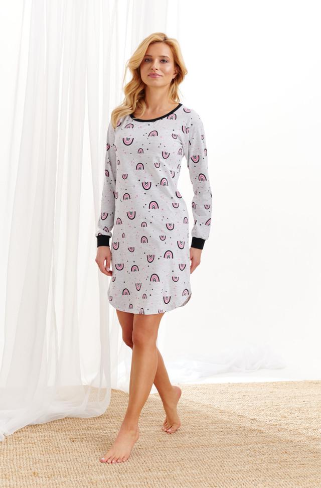Dámská noční košile 2116 NORA S-XL Z_20 - XL - ABSTRAKCJE
