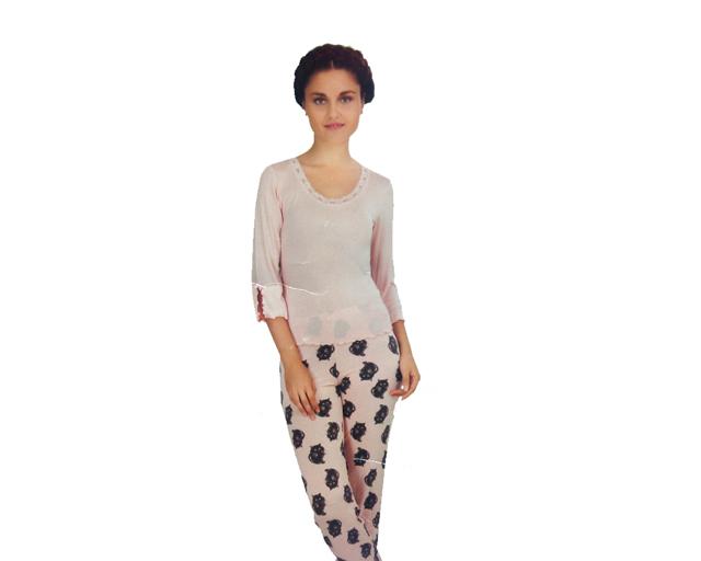 Dámské pyžamo 703 YPJ - Cocoon Secret - XL - starorůžová