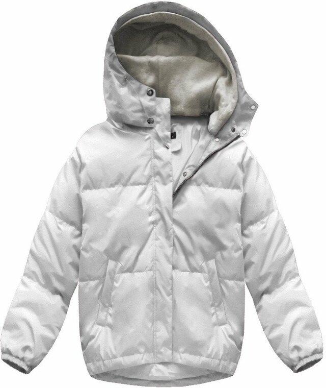 049b3d98c Bílá dámská oversizová bunda (7113) - L (40) - bílá