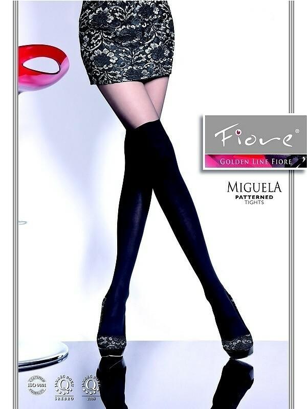 Punčochové kalhoty Fiore Miguela 40 den - 4-L - černá