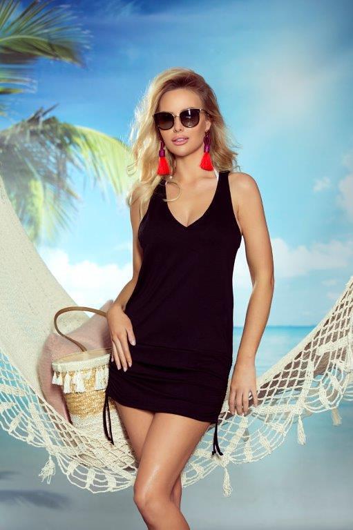 8e672274aa40 Dámská plážová tunika Eldar First Lady Summer Sunny - L XL - černá