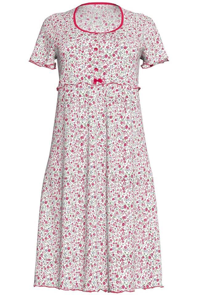 Dámská noční košile 10-6821 Vamp - M - růžová s květy