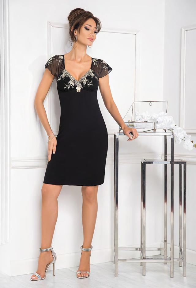 Dámská noční košilka Donna Valentine - XL - černá