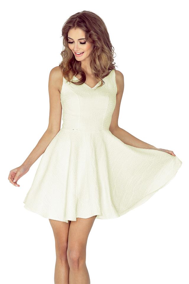 Dámské šaty 014-6 - S - krémová