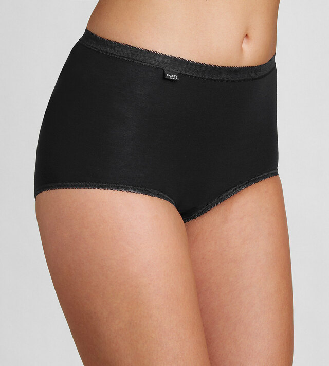 Kalhotky Sloggi Basic+ Maxi 2P černá / bílá 0004 - Triumph - 40 - černá