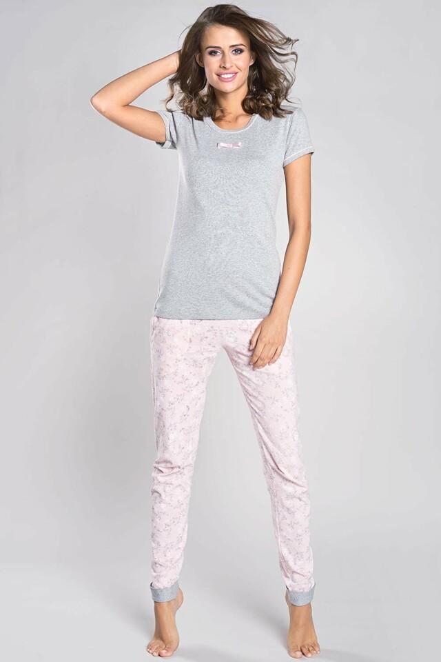 Dámské pyžamo Italian Fashion Milana - XL - žíhaná meruňková