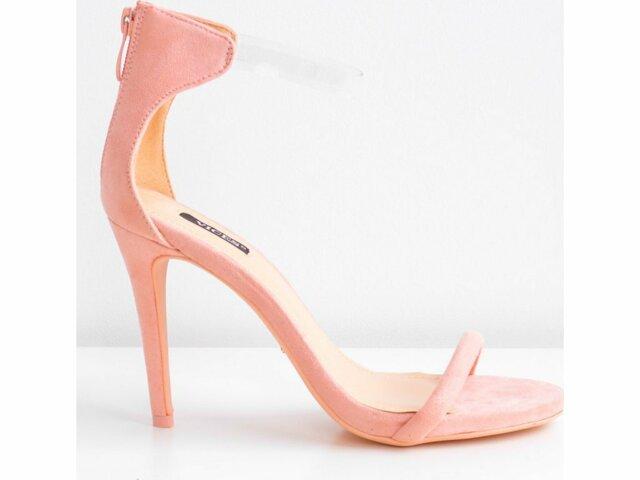 Dámské sandály na podpatku 5075 - Vices - 36 - staro růžová cda5a64d59