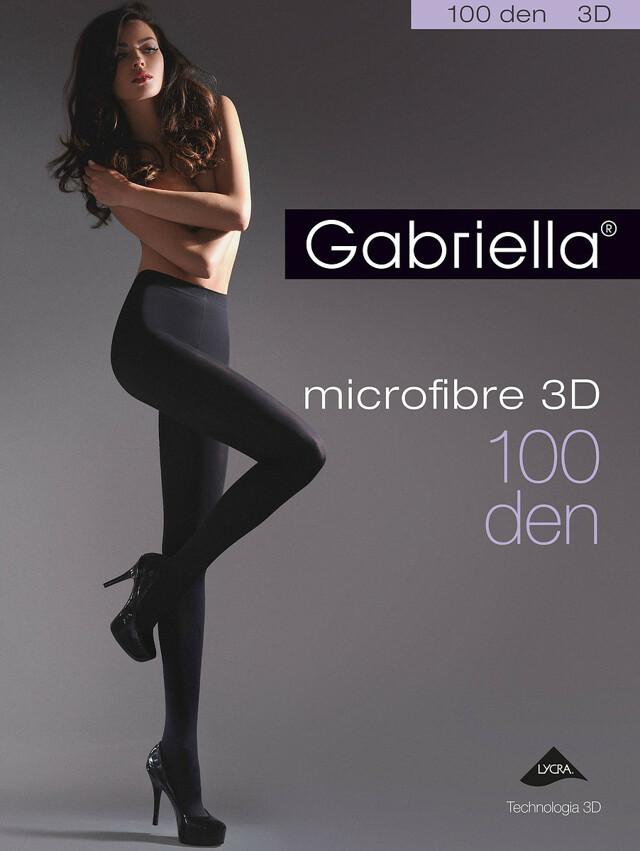 Punčochové kalhoty Gabriella Microfibre 3D 119 5-XL 100 den