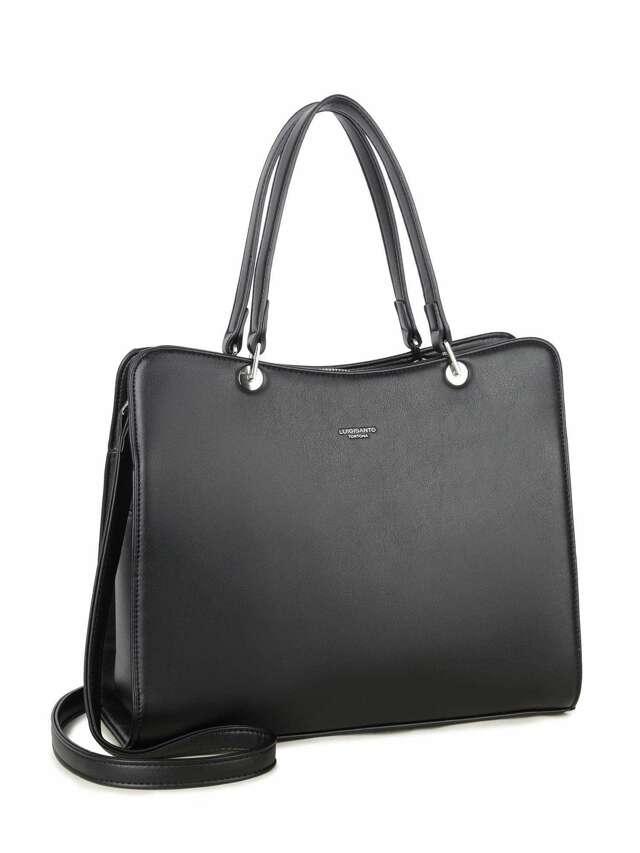 LUIGISANTO Černá elegantní kabelka - jedna velikost
