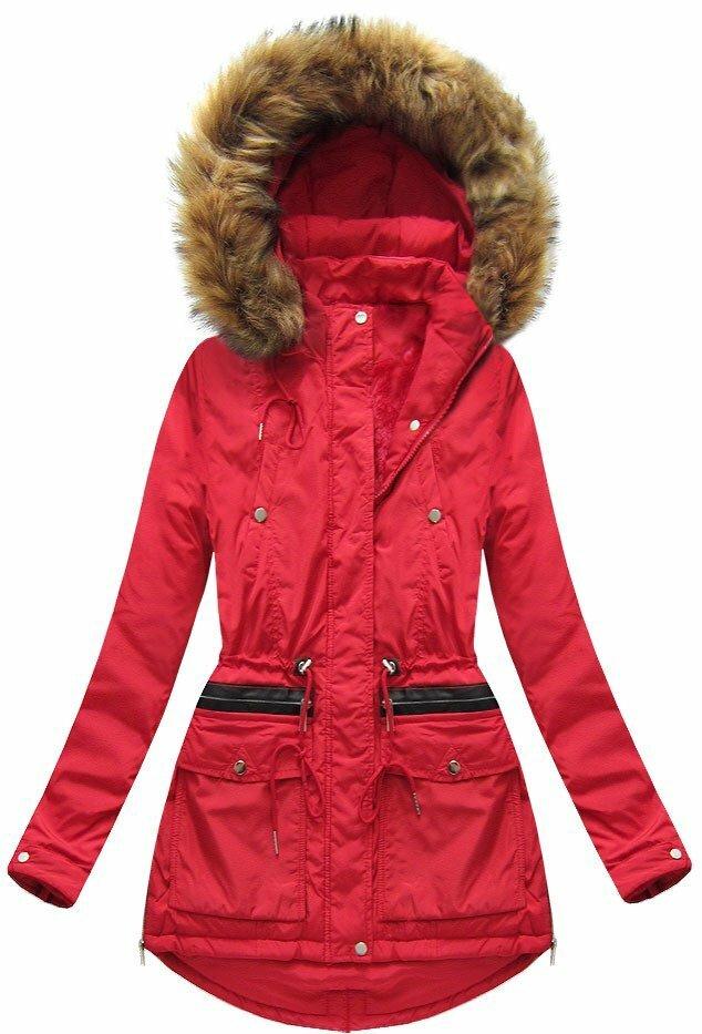 Červená dámská zimní bunda (7308) - S (36) - červená