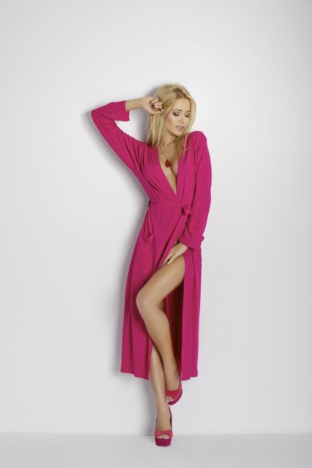 Dámský župan Viki dark pink - XL - sytě růžová