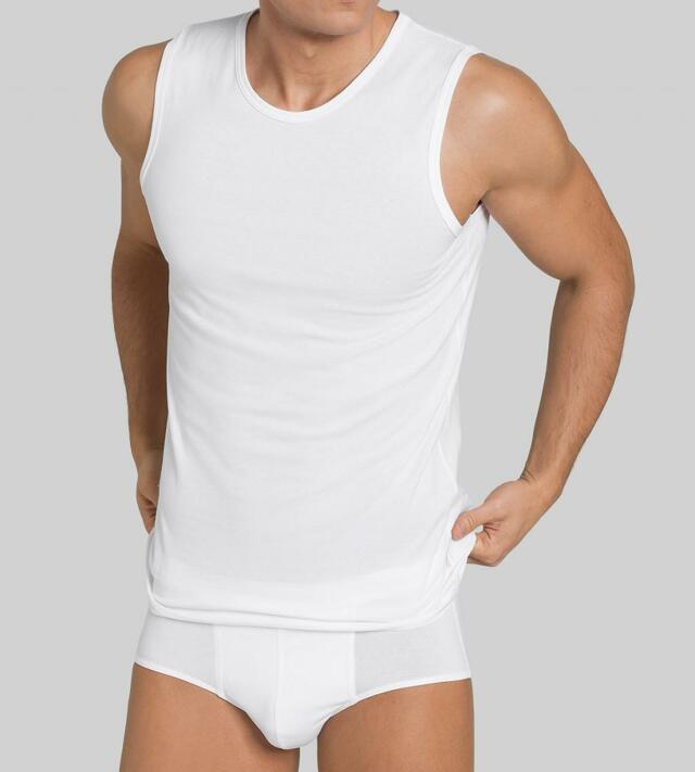 Pánské tílko Sloggi Men EverNew Shirt 02 Tank - 0006 - bílá (0003)