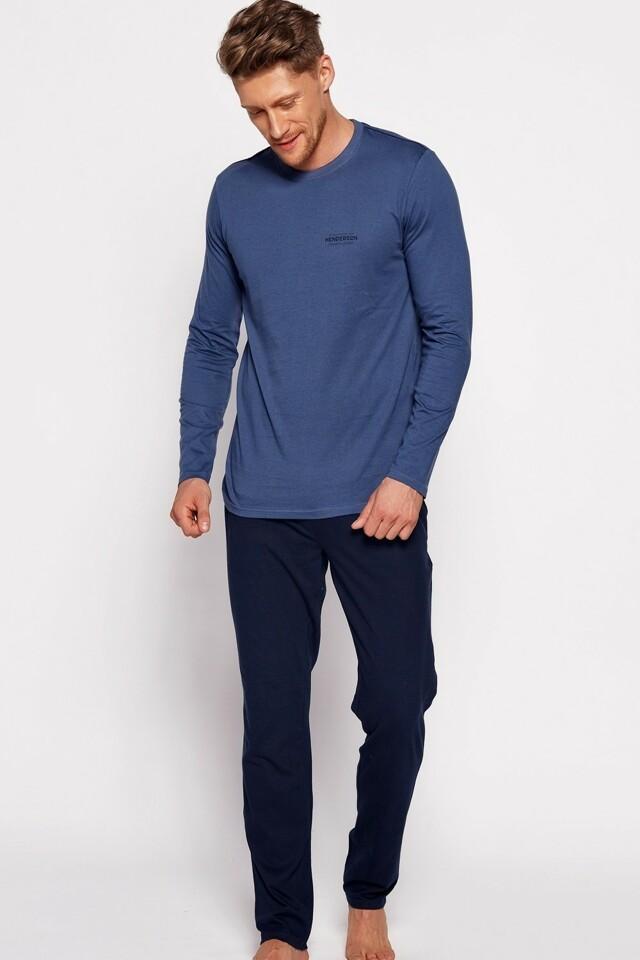 Pánské pyžamo 35411 blue - XXL - tmavě modrá