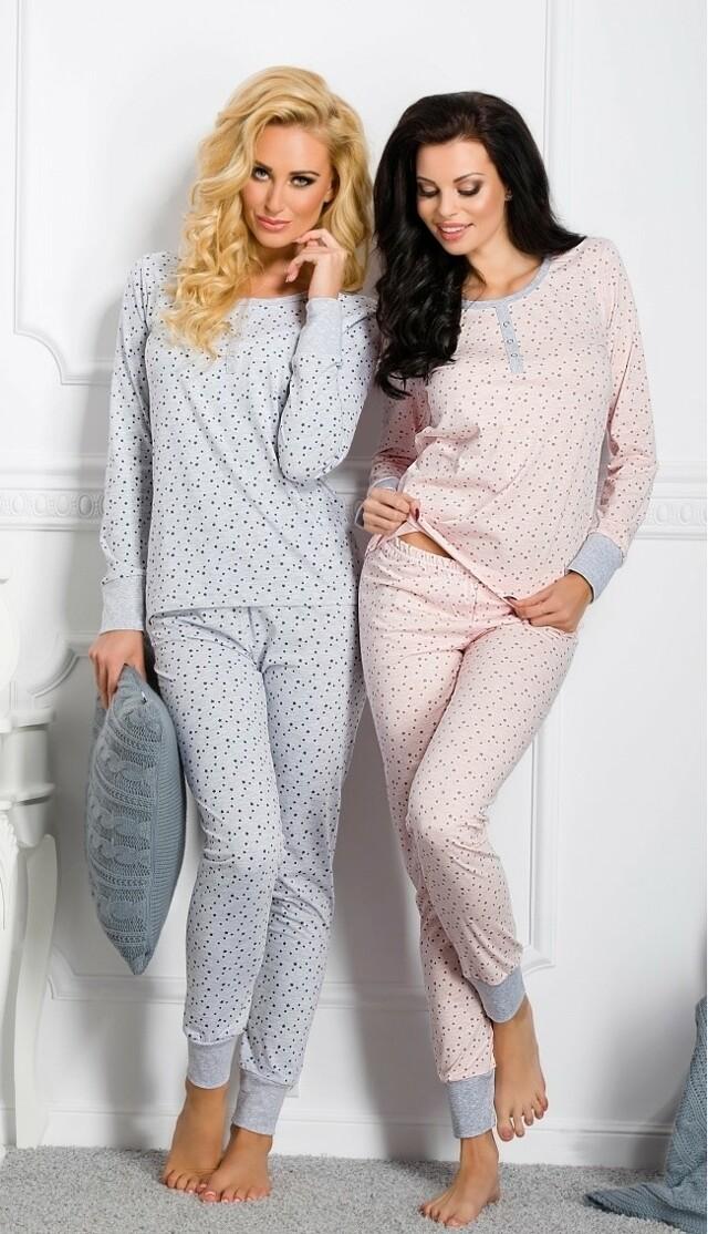 Dámské pyžamo Taro Koko N.791 dl/r S-XL - L - bordó