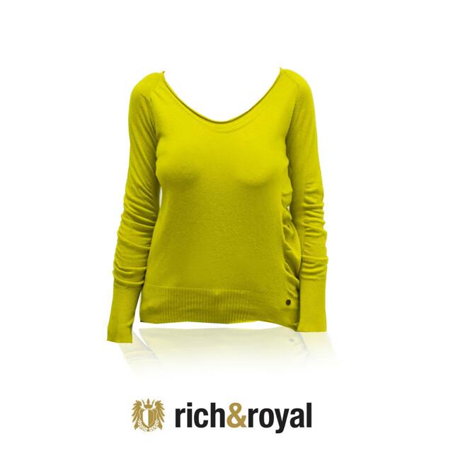 Dámský svetřík 23q112 - Rich Royal - L - okrová