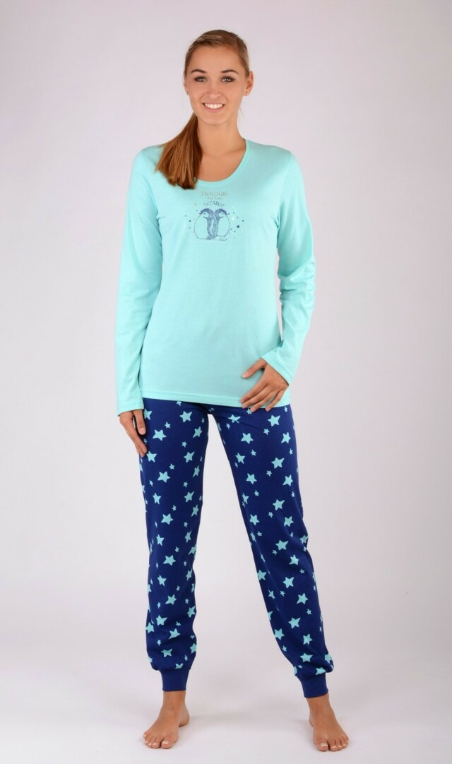 6b977c85168c ... Dámské pyžamo dlouhé Malí tučňáci (277147) - 8 ...