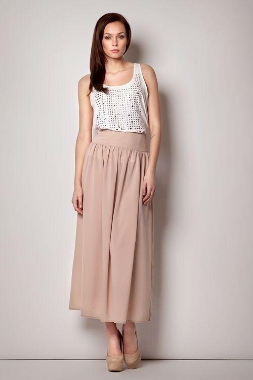 Dámská sukně M176 - Figl - XL - béžová