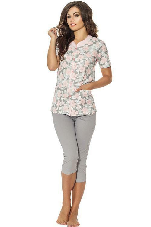 Dámské pyžamo Luna 692-1 - L - růžová-šedá