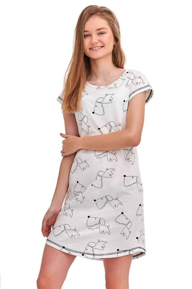 Noční košile Inka bílá Dog - 146