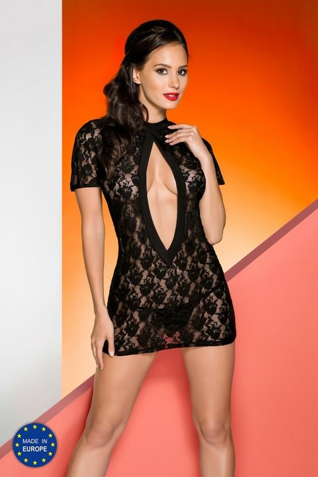 Erotická košilka Rika chemise black - L/XL - černá