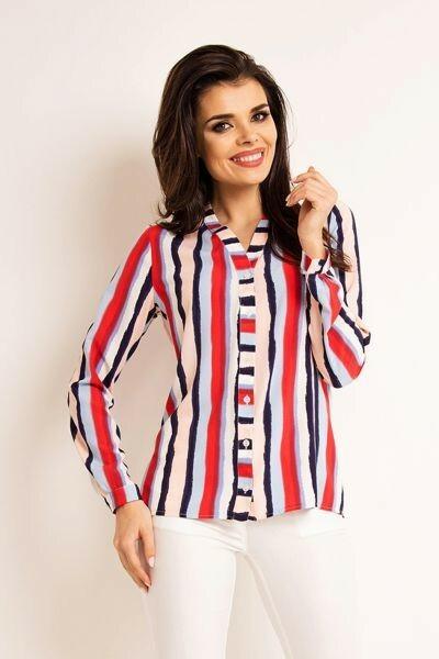 Dámská košile A 170 Lila Stripes - Awama - M - vícebarevná