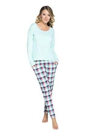 Dámské pyžamo Manuela tyrkysové - XL