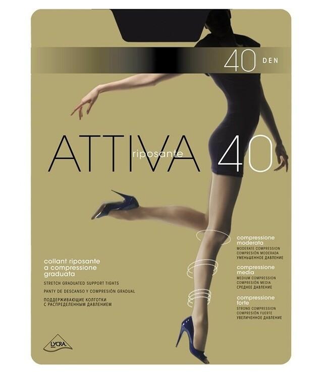 Punčochové kalhoty Omsa Attiva 40 den S-XL - 2-S - odstín béžové