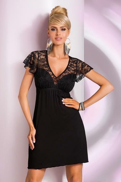 Noční košilka Donna Linda - L - černá
