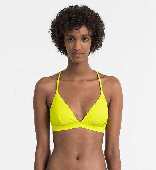 Vrchní díl plavek KW0KW00201-311 žlutá - Calvin Klein