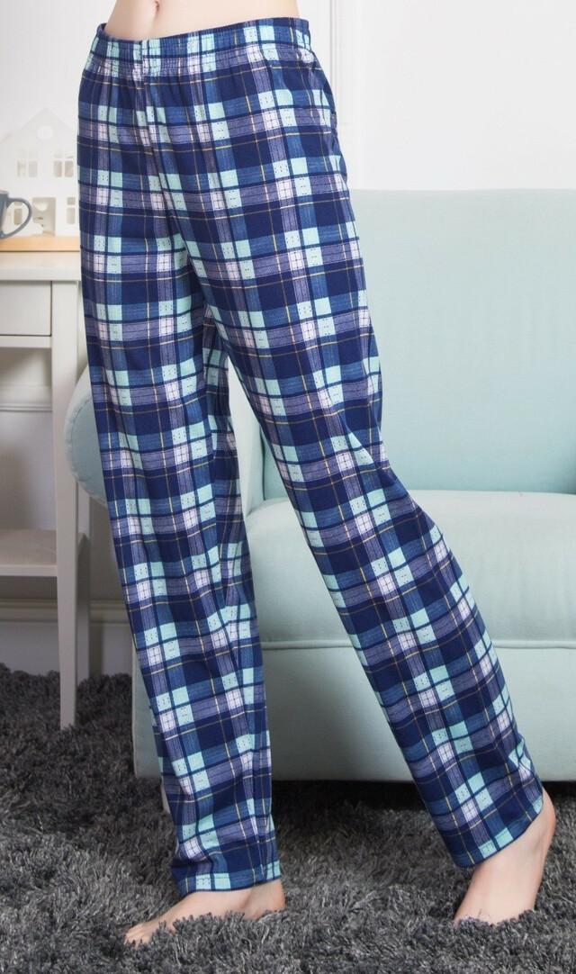 Dámské pyžamové kalhoty Beata - modrá 4XL