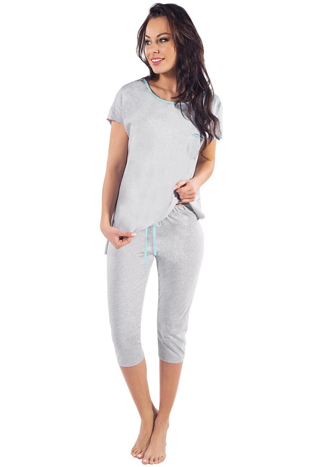 Dámské pyžamo Italian Fashion Lexi - M - žíhaná-pistaciová