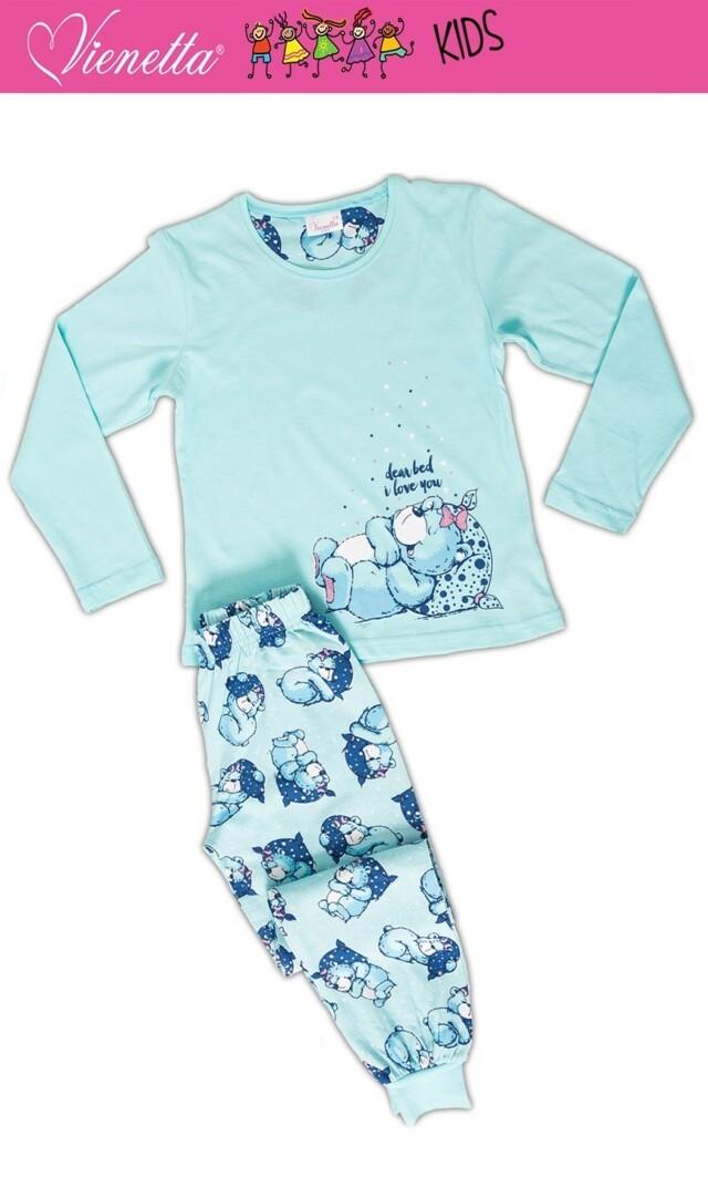Dětské pyžamo dlouhé Méďa s polštářem