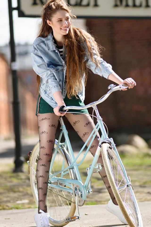 Cyklistické punčochové kalhoty Gabriella Rajtuzy Rowerowe code 659 - 2-S - nero