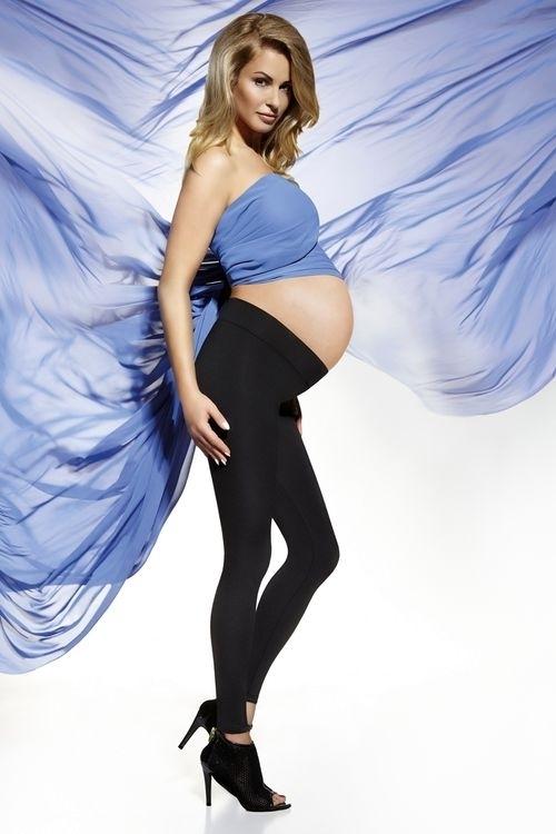 Těhotenské legíny Suzy - XXL - černá