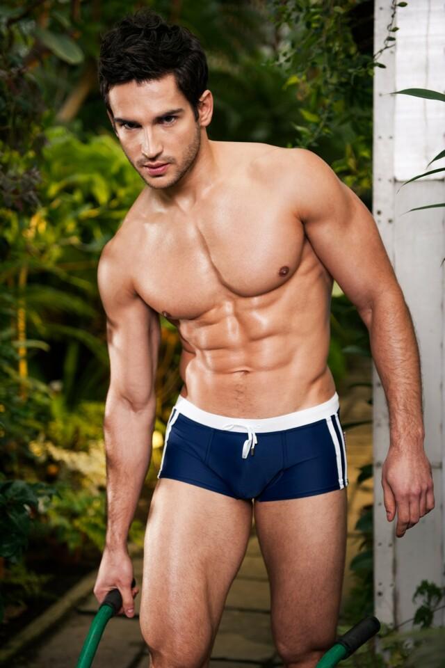 Alpha Male boxerkové plavky Sacco tmavě modré