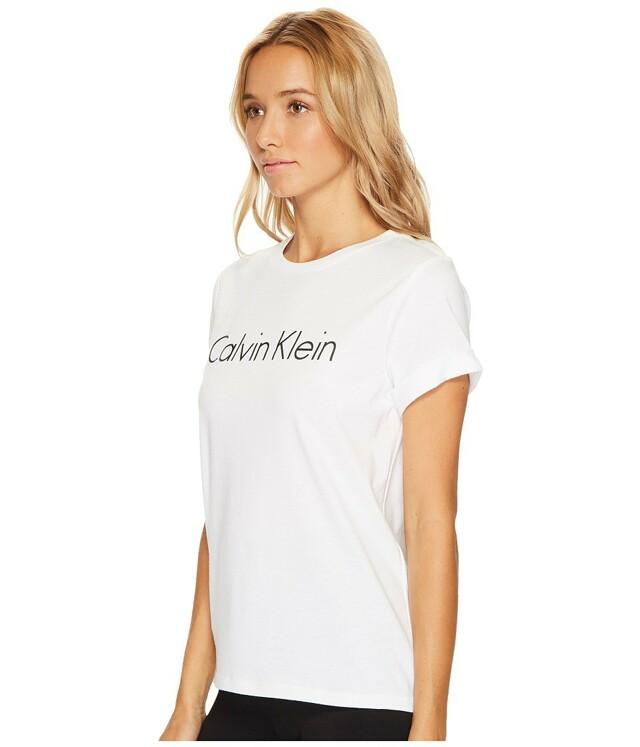 Dámské tričko QS5789E - Calvin Klein - L - bílá