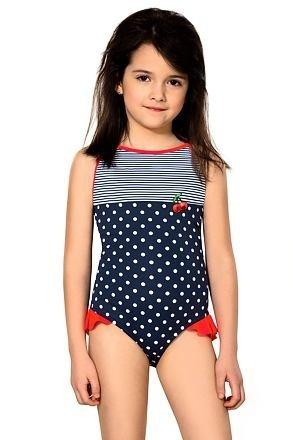 Dívčí jednodílné plavky Sárinka modré - 122