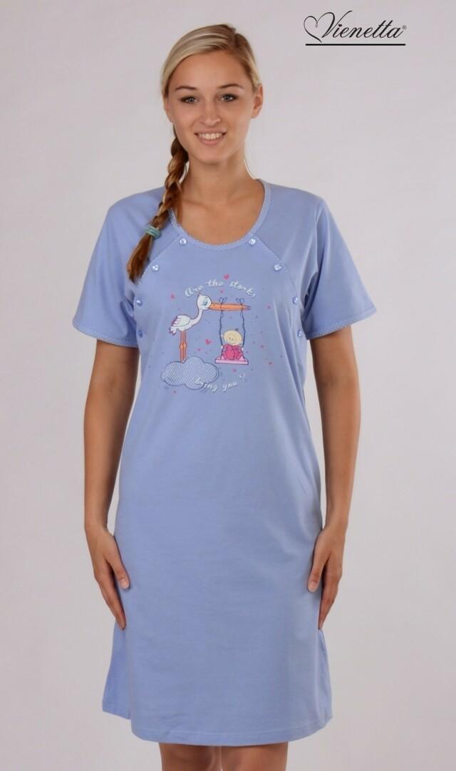 Dámská noční košile mateřská Čáp a houpačka - šedá XL