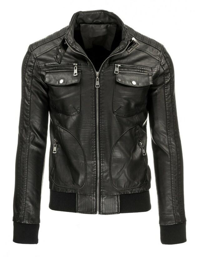 Pánská kožená bunda TG 2635 (tx1279) - Andrexx - XXL - černá