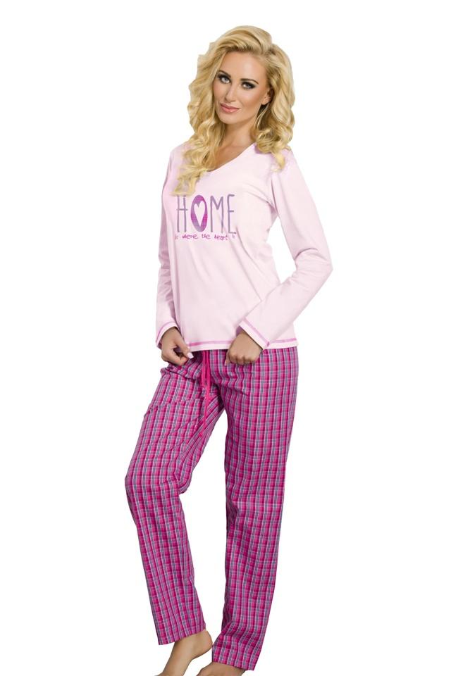 Dámské pyžamo Larisa růžové - XL