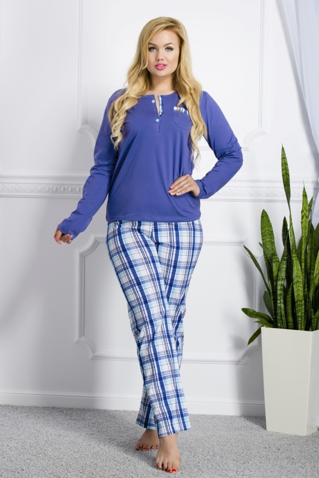 Dámské pyžamo 2006 Gizela 03 dark blue - XXL - tmavě modrá