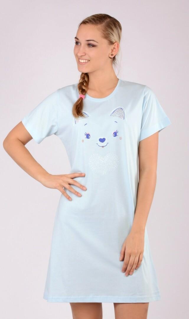 Dámská noční košile s krátkým rukávem Miláček