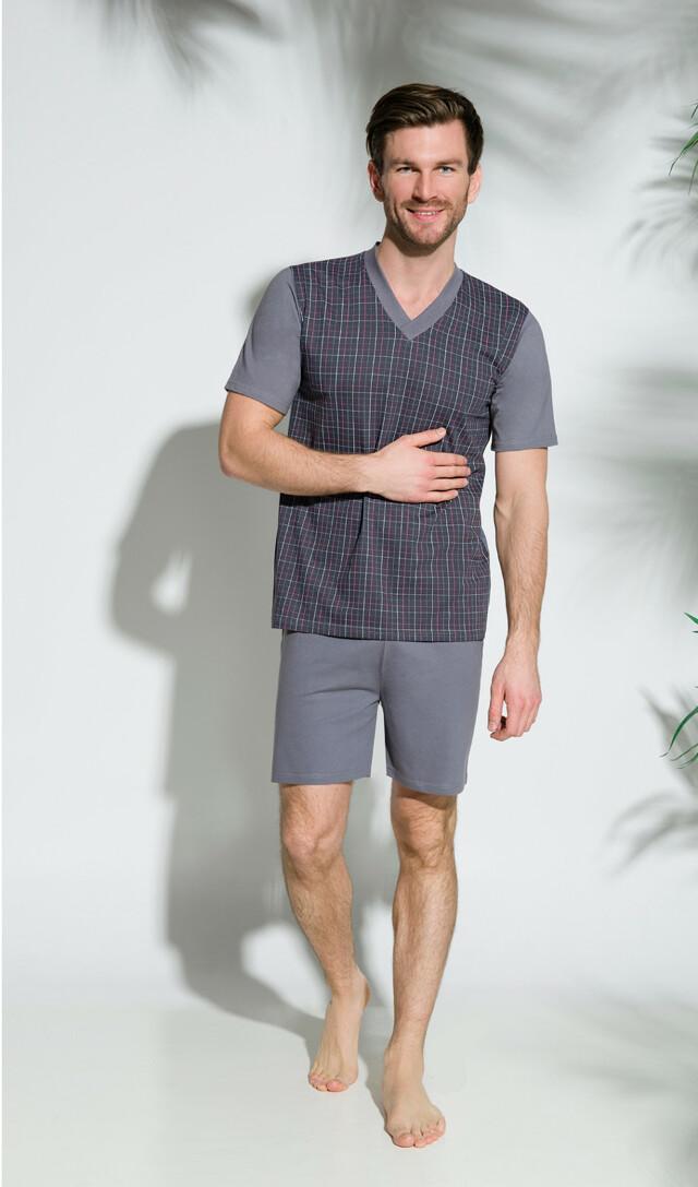 Pánské pyžamo Taro Roman 002 kr/r M-2XL '18