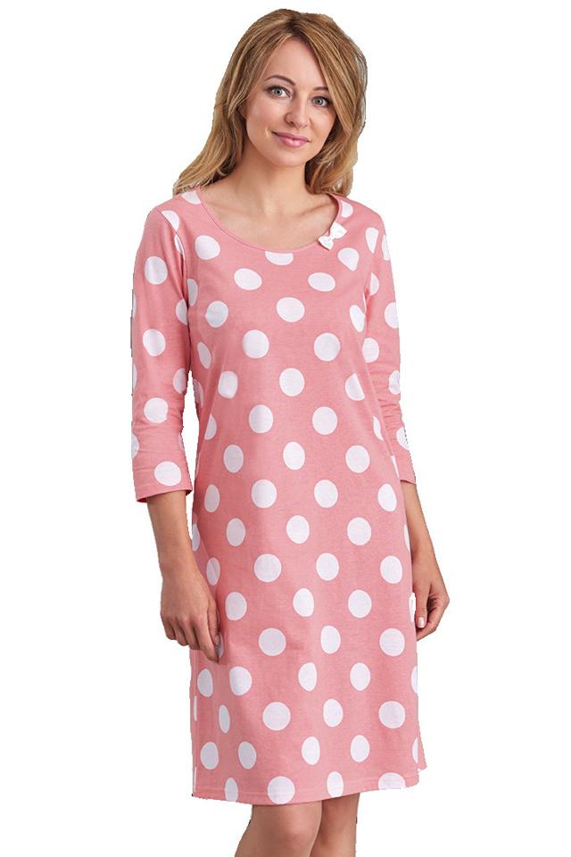 Dámská noční košile Darja růžová - XXL