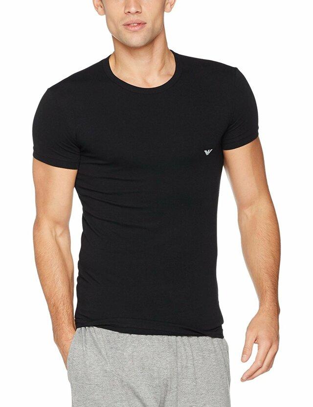 Pánské tričko 111035 CC735 00020 černá - Emporio Armani