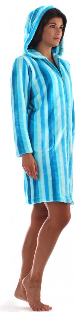 Dámský župan Rimini 3856 - Vestis - M - modro-tyrkysová