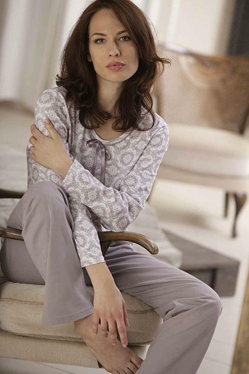 Dámské pyžamo Cana 332 3XL - 3XL - bílá-béžová