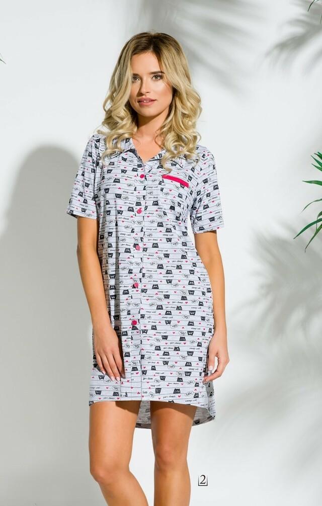 2139 Krátká dámská noční košile DALIA S-XL - TARO - masky - M