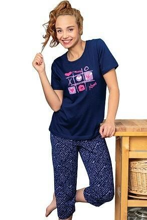 Dámské pyžamo Kisses - S