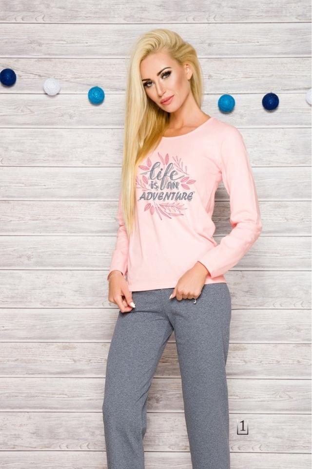 Dámské pyžamo 286 Sylvia - XL - lososová